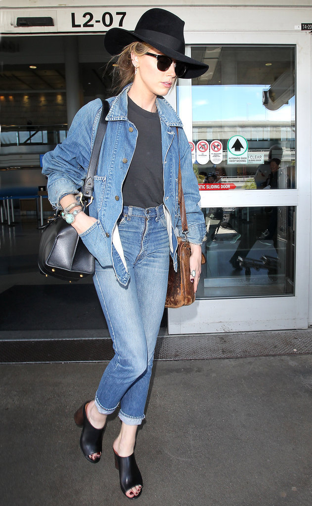 Amber Heard et sa veste en jean