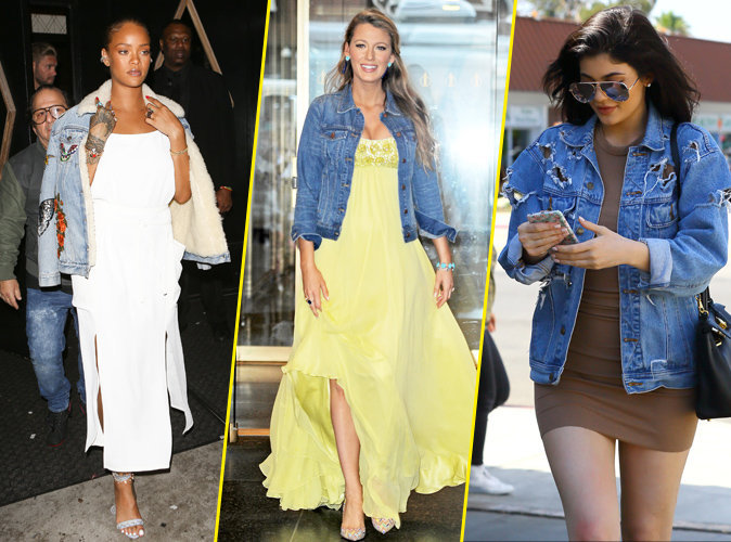 Rihanna, Blake Lively, Kylie Jenner : comment portent-elles la veste en jean ?