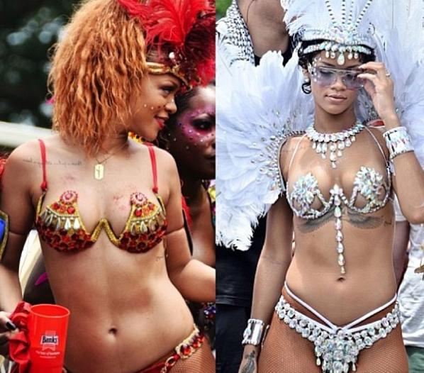 Rihanna : divinement costumée pour le carnaval de la Barbade !