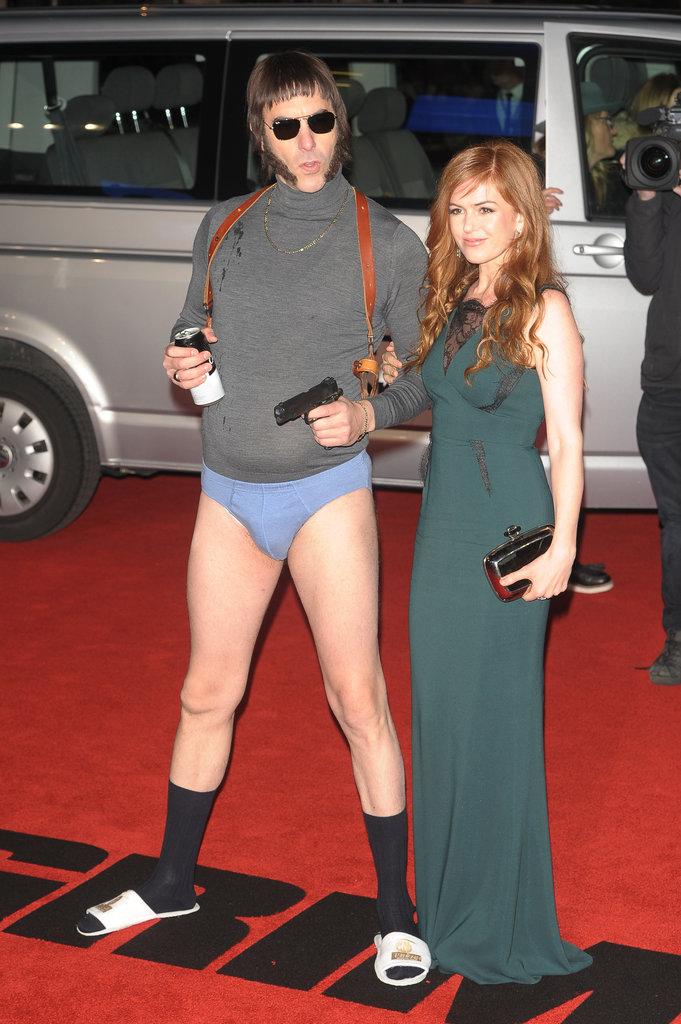 Sacha Baron Cohen et Isla Fisher ont fait sensation sur tapis rouge