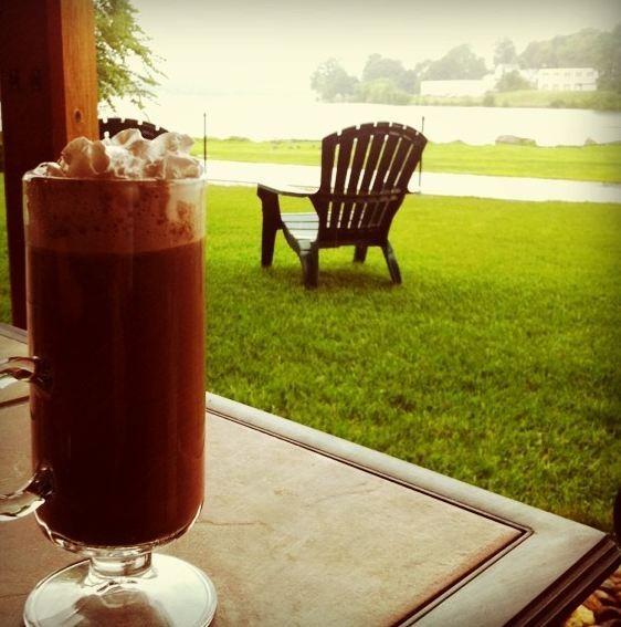 Un bon chocolat chaud et un jour de pluie...