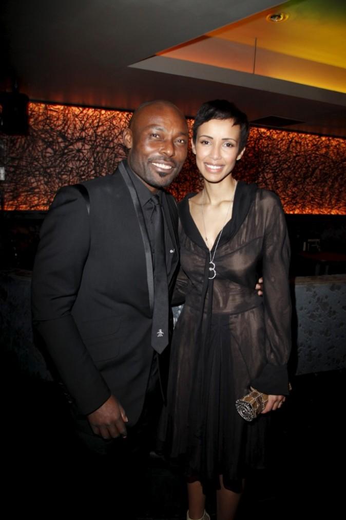 Sonia Rolland et Jimmy Jean-Louis lors des 12e Étoiles du cinéma au sein du cinéma Gaumont-Marignan à Paris, le 21 mars 2011.