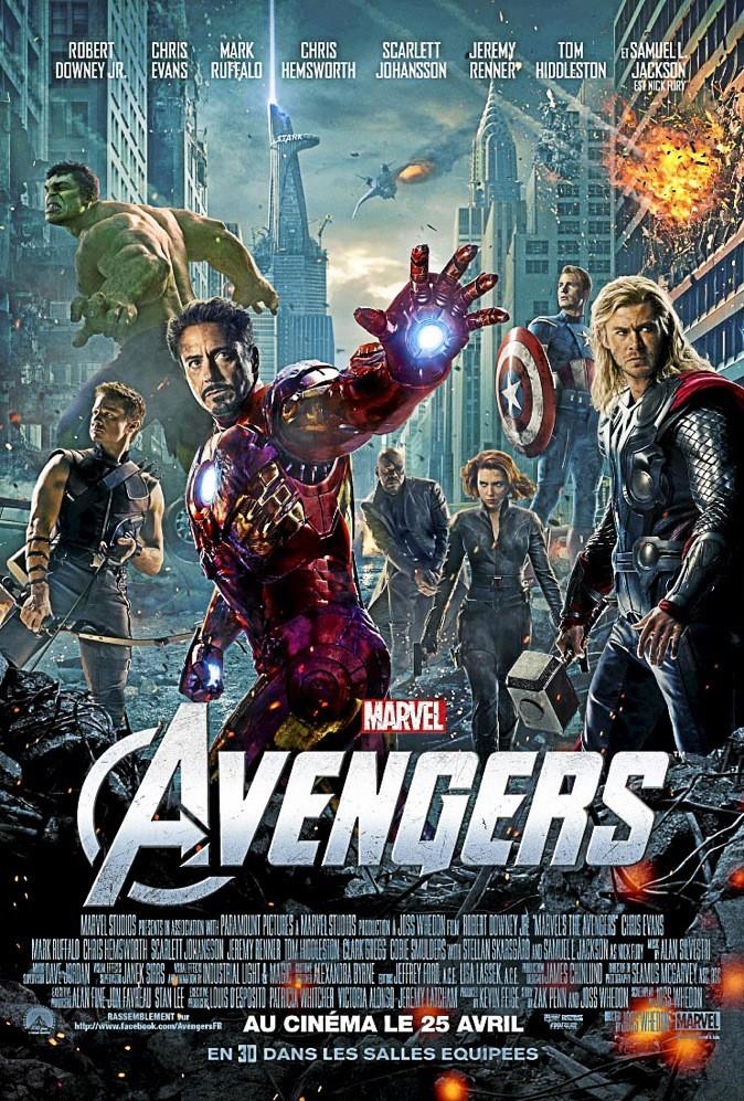 """L'affiche du film """"The Avengers"""" !"""