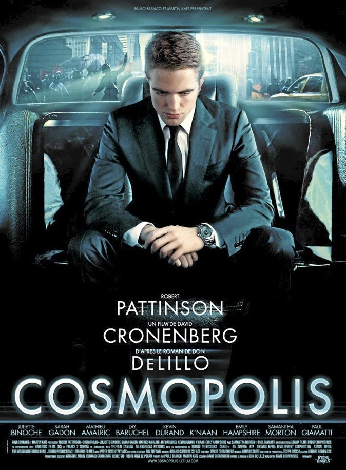 """L'affiche du film """"Cosmopolis"""" avec Robert Pattinson !"""