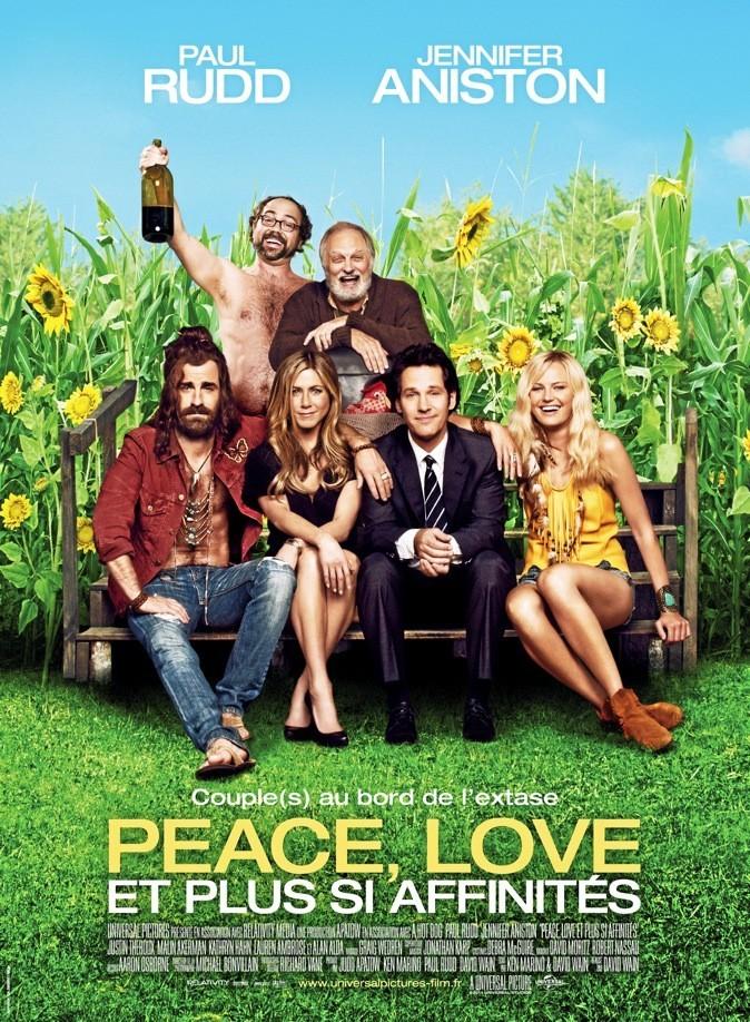 L'affiche du film Peace, love et plus si affinités avec Jennifer Aniston !