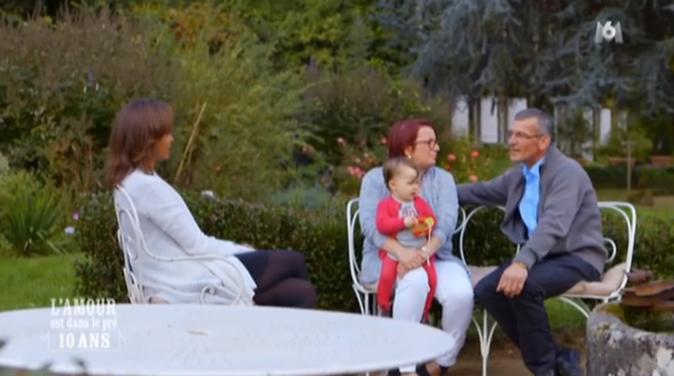 Jean-Claude , Maud et leur petite Charlotte avec Karine