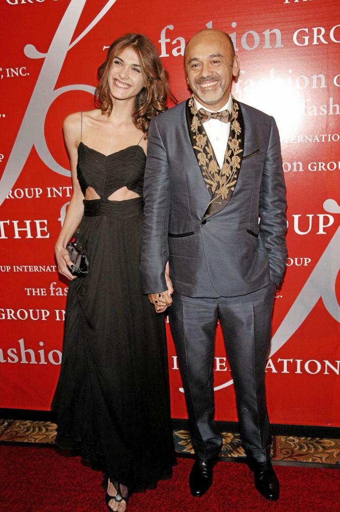 Élisa Sednaoui et son parrain Christian Louboutin