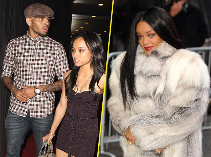 Chris Brown, Karrueche Tran et Rihanna