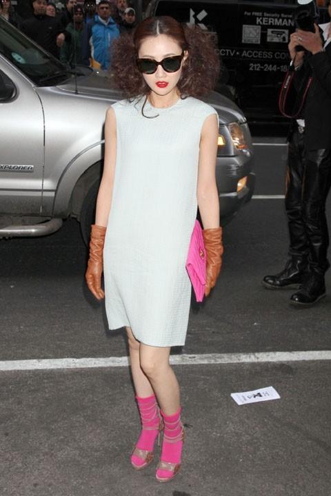 Guest au défilé Calvin Klein à new York, le 17 février 2011.