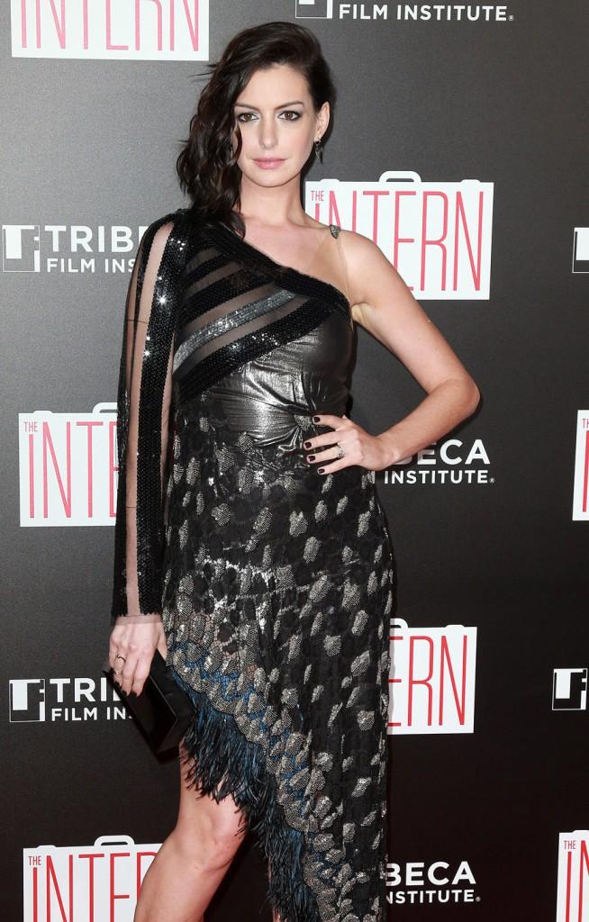 Anne Hathaway à l'avant-première du film Le Nouveau Stagiaire