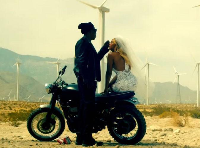 """Beyoncé et Jay-Z dans leur clip promotionnel """"Run""""."""