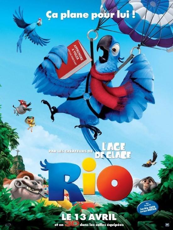 Rio (3D) avec les voix de Laetitia Casta et Lorant Deutsch