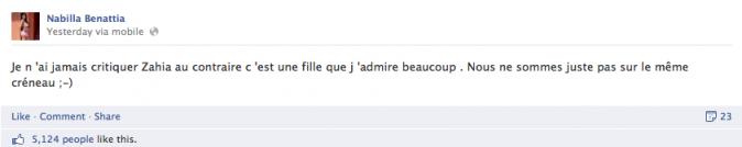 """Les """"excuses"""" de Nabilla"""