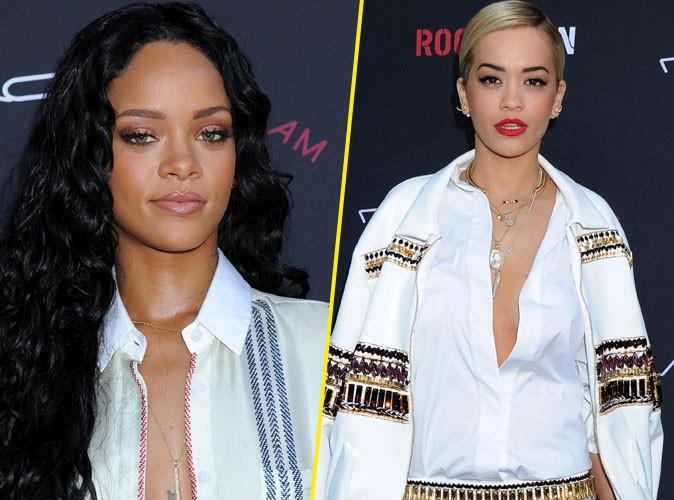 """Rihanna : elle a """"délibérément"""" snobé Rita Ora tout le week-end !"""