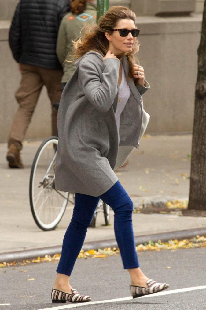 Les frileuses : Jessica Biel à New York !