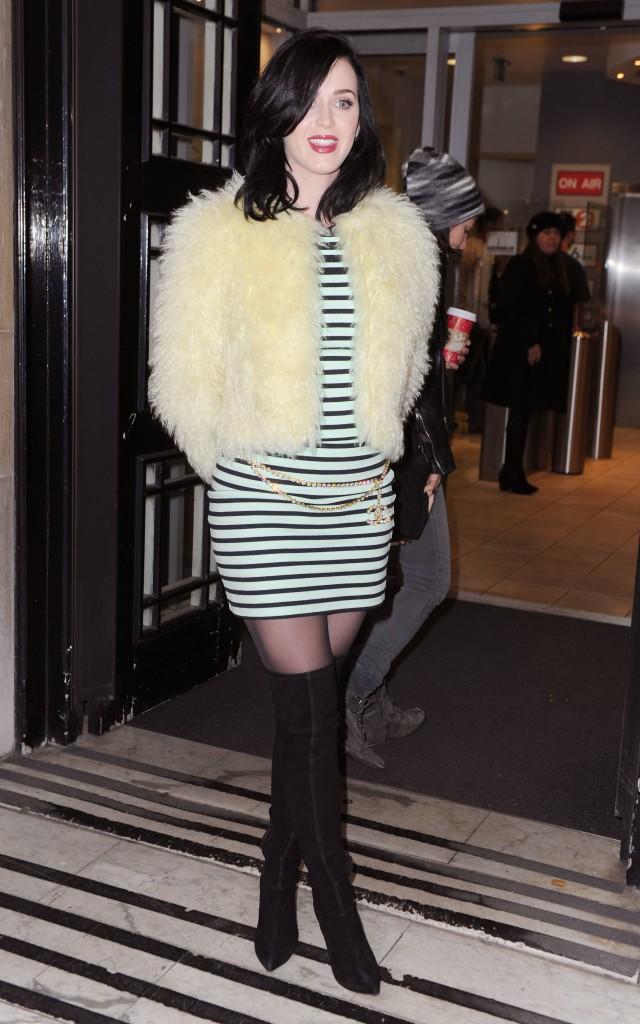 Les frileuses : Katy Perry à Londres !