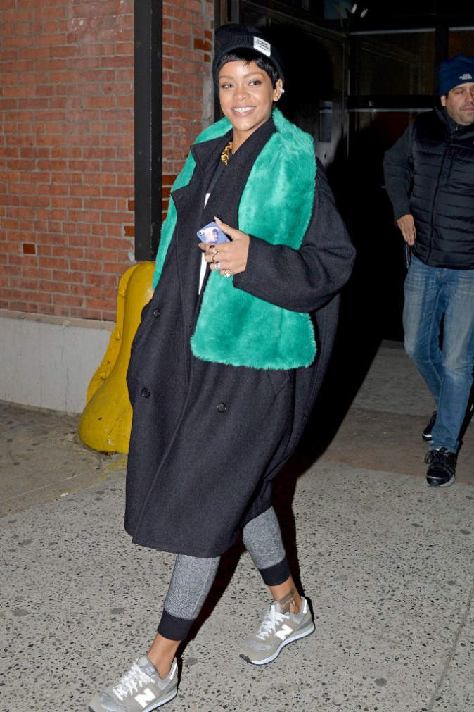 Les frileuses : Rihanna à New York !