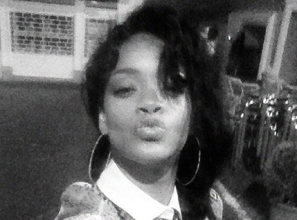 """Rihanna : un baiser """"pour mon coeur"""" !"""