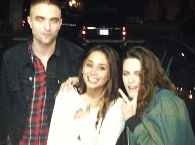 Robert Pattinson et Kristen Stewart : ils posent avec une fan lors d'une sortie en amoureux !