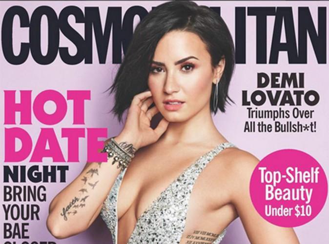 Sa couverture de Cosmopolitan considérée comme choquante, Demi Lovato réagit !
