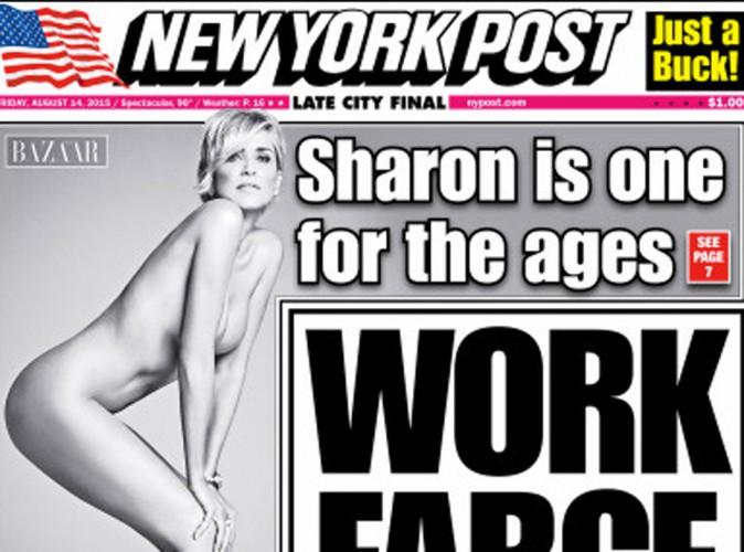Sharon Stone : à 57 ans, la battante pose complètement nue en Une du New York Post !
