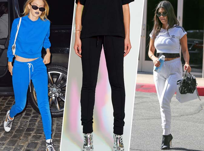 Shopping Copie conforme : Le jogging en coton de Gigi Hadid et Kourtney Kardashian