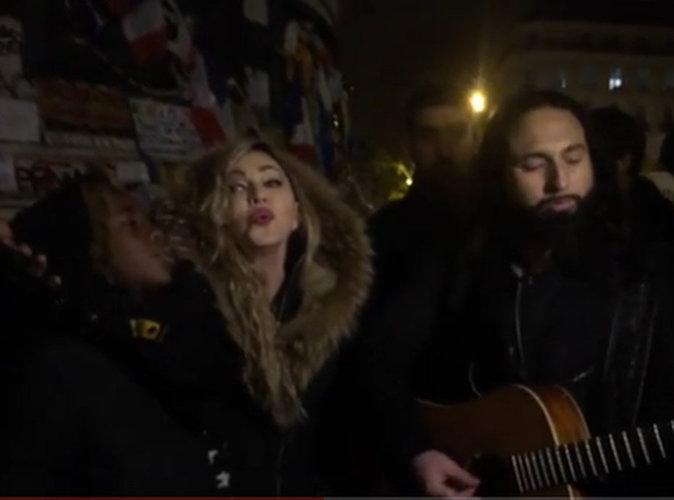 Vidéo : Attentats de Paris : Madonna et son fils surprennent les Français place de la République...