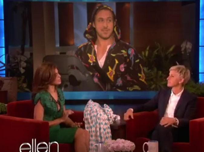 Video : Eva Mendes ne sait plus où se mettre quand on lui parle de Ryan Gosling !