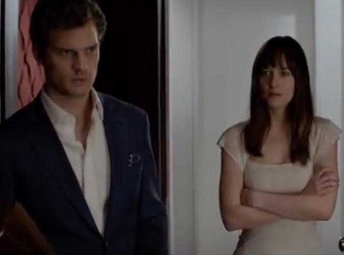 """Vidéo : Jamie Dornan et Dakota Johnson : sensuels dans le premier trailer de """"50 Shades of Grey"""" !"""