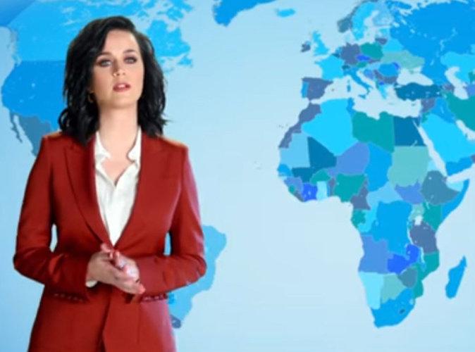 Vidéo : Katy Perry en miss météo pour défendre l'environnement !