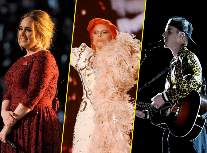 Vidéos : Adele, Lady Gaga, Justin Bieber… revivez les temps forts des Grammys 2016 !