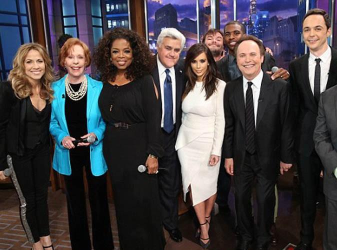 Vidéos : Kim Kardashian, Oprah Winfrey, Jack black, Billy Crystal... Pléiade de stars pour le show final de Jay Leno !