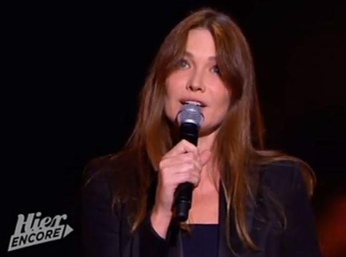 Carla Bruni : elle redevient chanteuse pour sa première apparition télé depuis des mois !