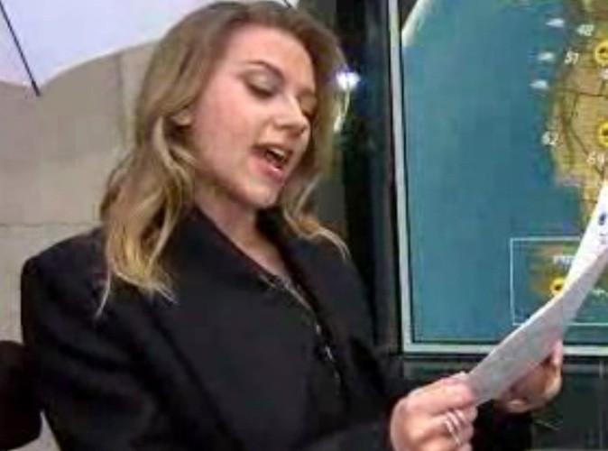 Vidéo Buzz : Scarlett Johansson se prend pour Miss Météo !
