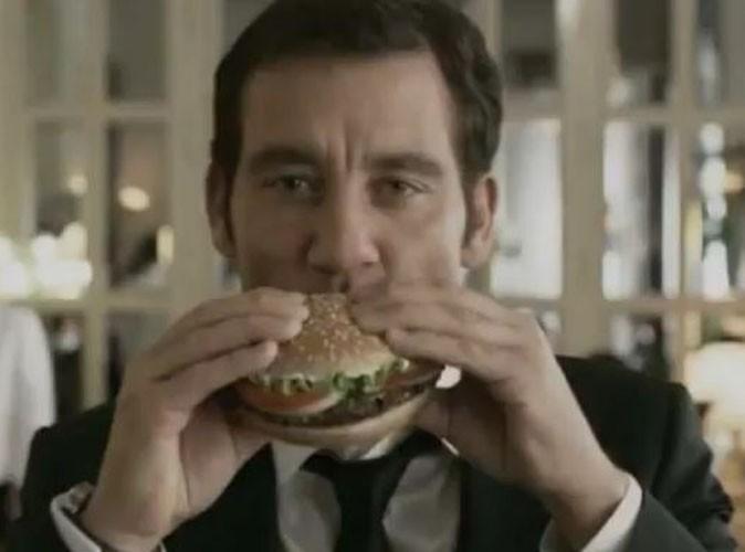 Vidéo : Clive Owen, il va vous donner faim avec Burger King !