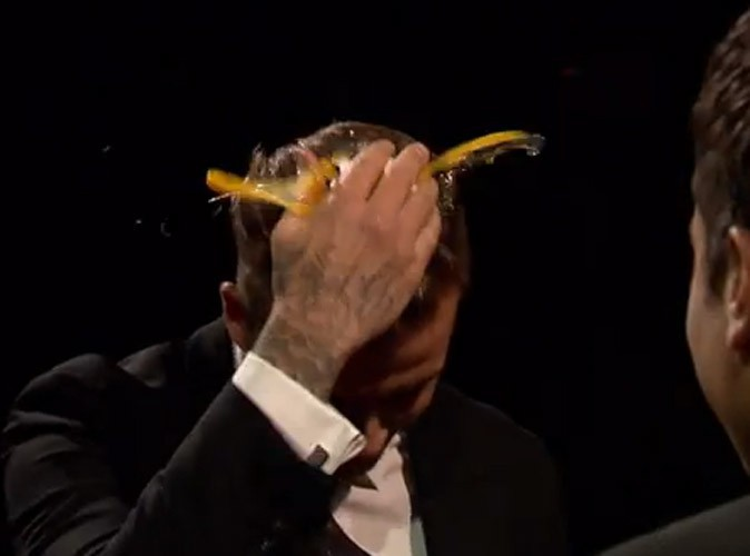 Vidéo : David Beckham : tête d'oeuf à la télé US !