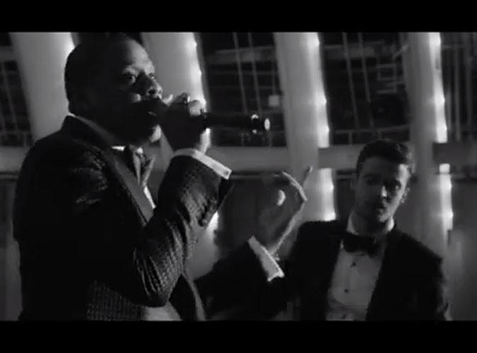 """Vidéo : Justin Timberlake : séduisant dandy rétro aux côtés d'un Jay-Z toujours aussi charismatique dans le clip officiel de """"Suit & Tie"""" !"""