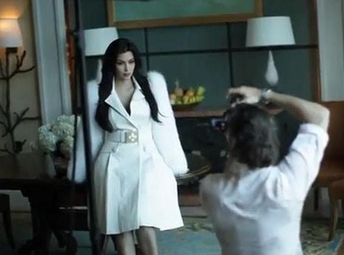Vidéo : Kim Kardashian : les coulisses de son shooting ultra-glamour à Dubaï !