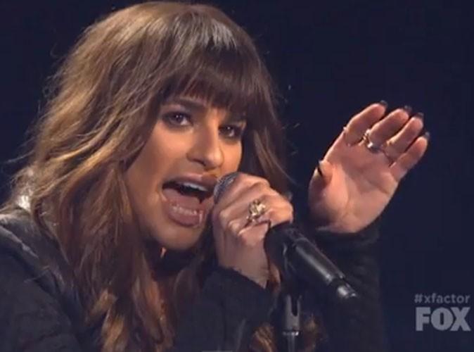 """Vidéo : Lea Michele : toute en puissance et en justesse pour interpréter """"Cannonball"""" pendant la grande finale d'X Factor US !"""