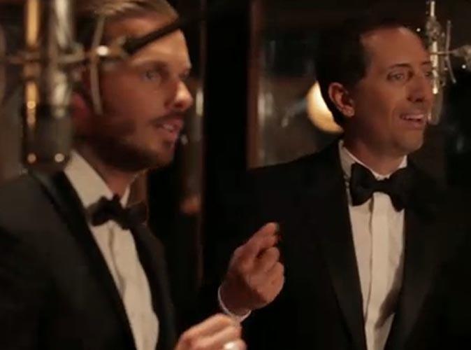 """Vidéo : M. Pokora et Gad Elmaleh : duo de crooners à tomber pour la reprise du mythique """"Singing In the rain"""" !"""