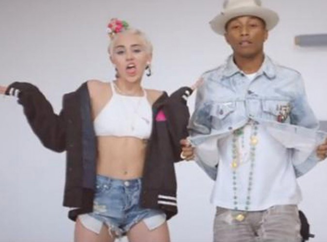"Vidéo : Pharrell Williams : il invite Miley Cyrus dans le clip de ""Come Get It Bae"" !"