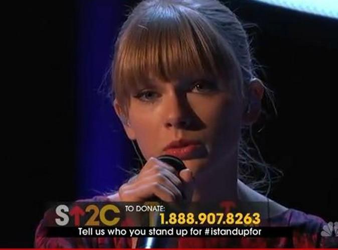 Vidéo : Taylor Swift : les larmes aux yeux pour interpréter son nouveau single !