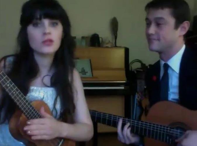 Vidéo : Zooey Deschanel et Joseph Gordon-Lewitt célèbrent 2012 en chanson…délicieux !