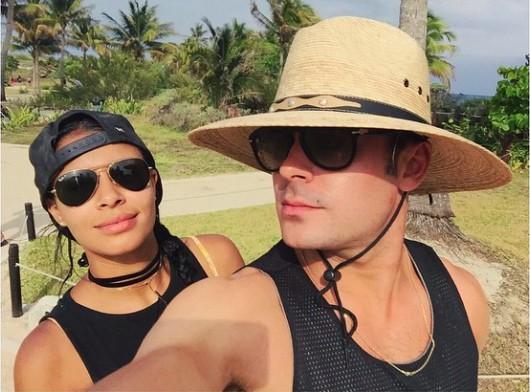 Zac Efron et Sami Miro : c'est le big love au Mexique !