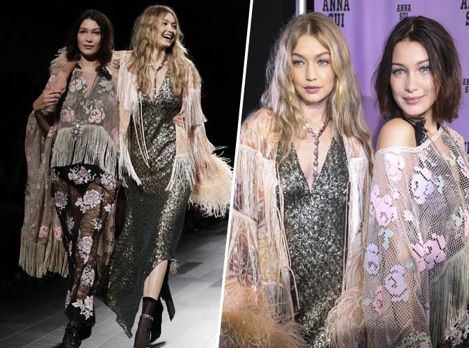 Fashion Week de New York : Gigi et Bella Hadid défilent ensemble pour Anna Sui !