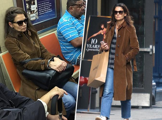 Katie Holmes : Pour aller faire du shopping... elle prend le métro !